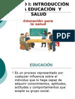 Unidad 1 Introduccion a La Educacion y Salud