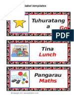 daily timetable with te reo