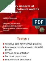 Laksmi - Pulmonary Aspect of HIV-AIDS and Its Management