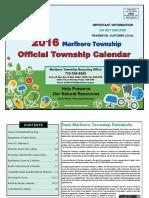Marlboro Recycling Calendar 2016