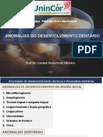 02 - Anomalias do desenvolvimento dentário 2012