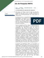 Projeto de Pesquisa MHTX - Cap 4 - O Processo de Análise de Assunto