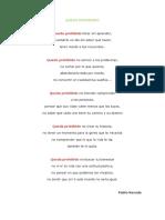 Queda Prohibido - Pablo Neruda