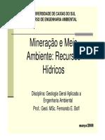 Aula 6_Mineração e Meio Ambiente_Impactos aos Recursos Hidricos