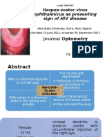 Herpes-zoster Virus Ophthalmicus as Presenting Sign of HIV