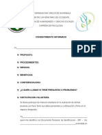 Instrumento y Consenitimiento Clinica