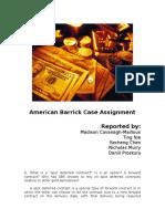 American Barrick Case Assignment