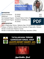 Tatalaksana Terkini Cedera Ginjal Akut