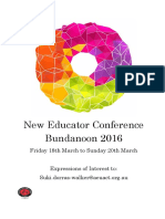 New Educator Conference March 18 - 20