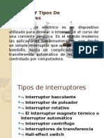 Definición Y Tipos de Interruptores