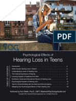 Psychological Affects of Hear Ling Loss in Teens