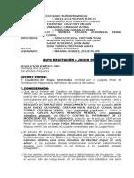 Exp. Nº 00222-2014-50- Robo Agravado, Carcel, Abog. Publico Particular, Testigos Perito, Edictos