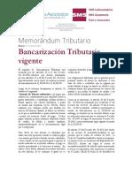 Bancarización Tributaria Vigente