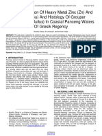 Bioaccumulation of Heavy Metal Zinc Zn and Copper Cu and Histology of Grouper Epinephelus Suilus in Coastal Panceng Waters of Gresik Regency