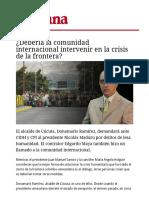 Debería La Comunidad Internacional Intervenir en La Crisis de La Frontera