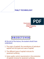 Asphalt Technology-UE CMT Lecture