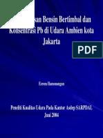 Penghapusan Bensin Bertimbel & Konsentrasi Pb Di Udara Ambien Kota Jakarta