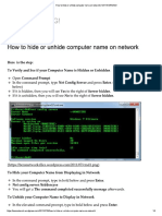How to Hide or Unhide Computer Name on Network _ NETWORKING!