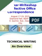 1 Technical Writing deped region seminar