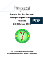 Proposal Cerdas Cermat SMA Negeri 3 Tangerang