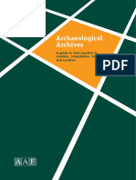 Archaeological Archives Duncan H. Brown