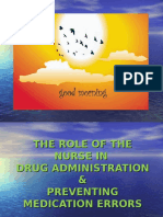 Role of Nurses in Drug Administration and Preventing Medication Errors