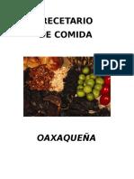 Recetario de Oaxaca
