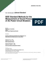 ANSI_IEEE C37.082-1982 Measurement of Sound Presure
