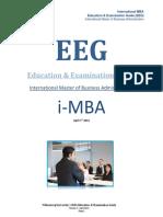 I-MBA Education and Examination Guide_Wittenborg University January 2014 - Vf