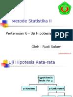 Pertemuan 06 Baru-Uji Hipotesis Satu Populasi.pptx