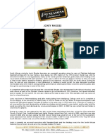 Jonty Rhodes Biography
