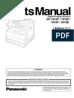 Panasonic 1510 1810 Parts Catalog