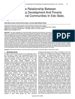 Investigating the Relationship Between Entrepreneurship Development and Poverty Reduction in Rural Communities in Edo State Nigeria
