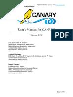 CANARY Users Manual 4.3.2