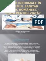 Plățile Informale În Sistemul Sanitar Public Românesc –