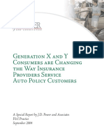 Generetion x and y for Auto Insurance Products