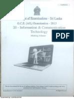 AL ICT Marking Scheme 2015