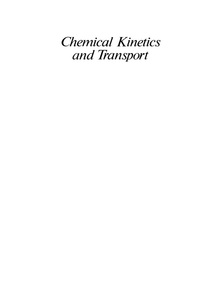 Peter C Jordan Chemical Kinetics Collision