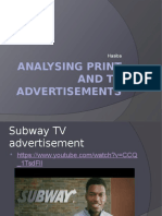 Analysing Print and TV Advertisements