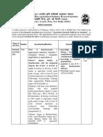 Notification IASRI Research Associate Posts