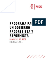 Documento Programa Gobierno Psoe
