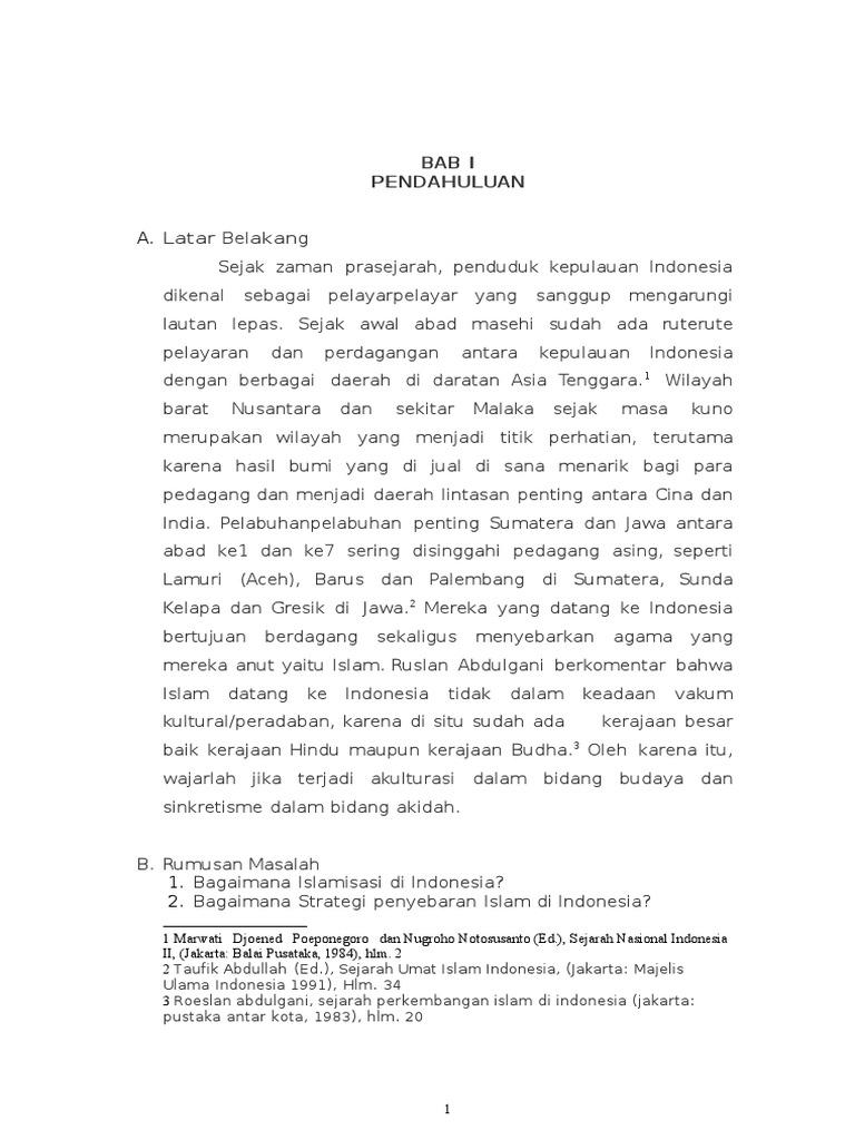 Makalah Tentang Sejarah Islam Di Indonesia Seputar Sejarah