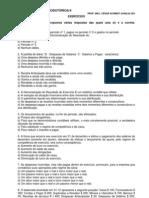 Contabilidade Geral - Exercícios - Variação Patrimonial
