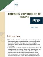 Emission Control on IC engine