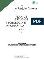Plan de Área Tecnología Del Reggio Amelia 2016