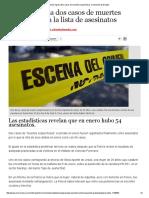 2-5-2016 Policía Ingresa Dos Casos de Muertes Sospechosas a La Lista de Asesinatos