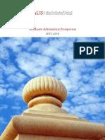 American University of Sharjah-Graduate Prospectus 2015 2016