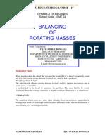 Unit 4 Balancing of Rotating Masses