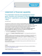 Statement of Financial Capability