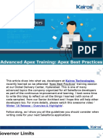 Advanced Apex Training